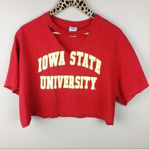 Iowa State Cyclones Cropped Graphic Tee